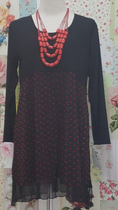 Black & Red Top LR094