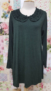 Moss Green Top BK043