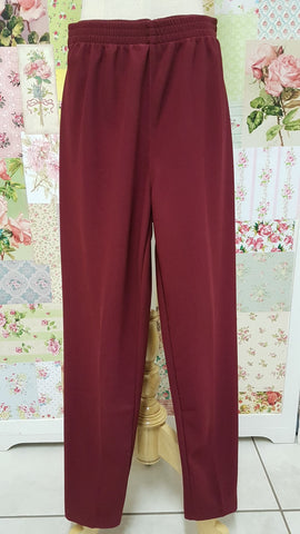 Maroon Rib Pants SAM016