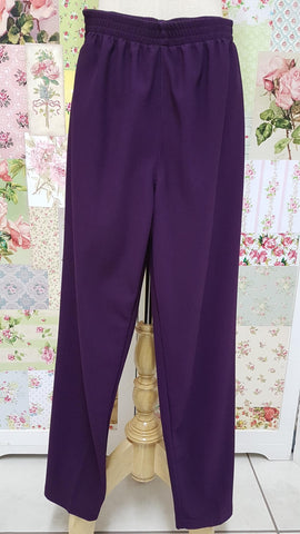 Dark Purple Rib Pants SAM040