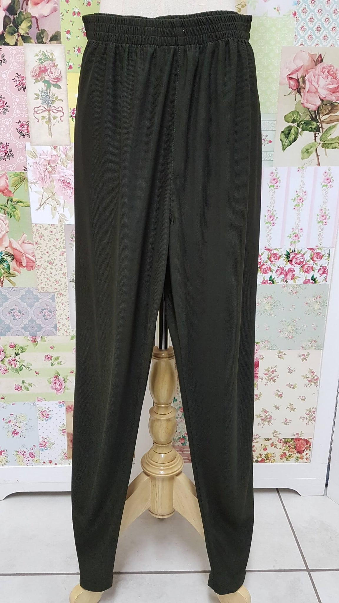 Olive Green Rib Pants SAM037