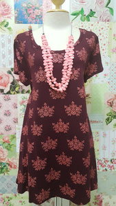 Maroon & Coral Top BE030