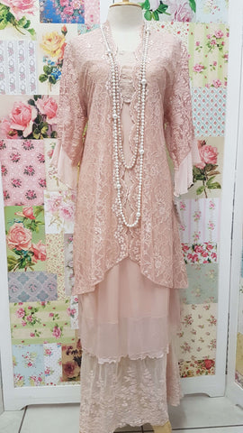 French Pink Dress ML039