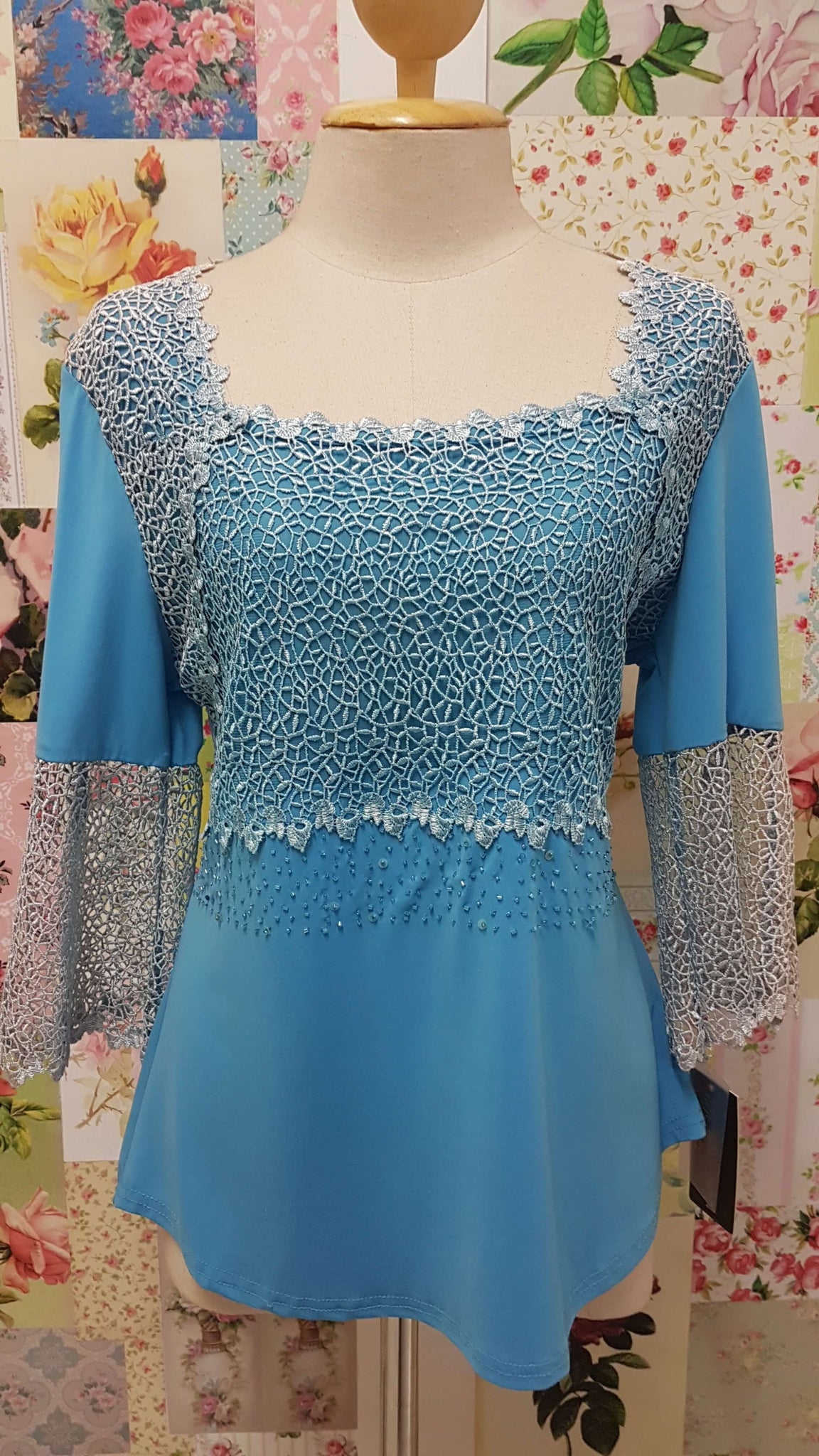 Aqua Blue Top BK045