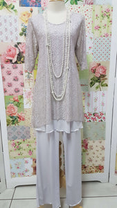 Silver Grey Lace 3-Piece CH020