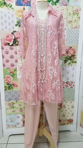Dusty Pink Lace 3-piece AG04