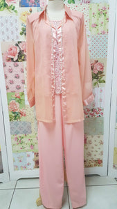 Peach 3-Piece Pants Set BS040