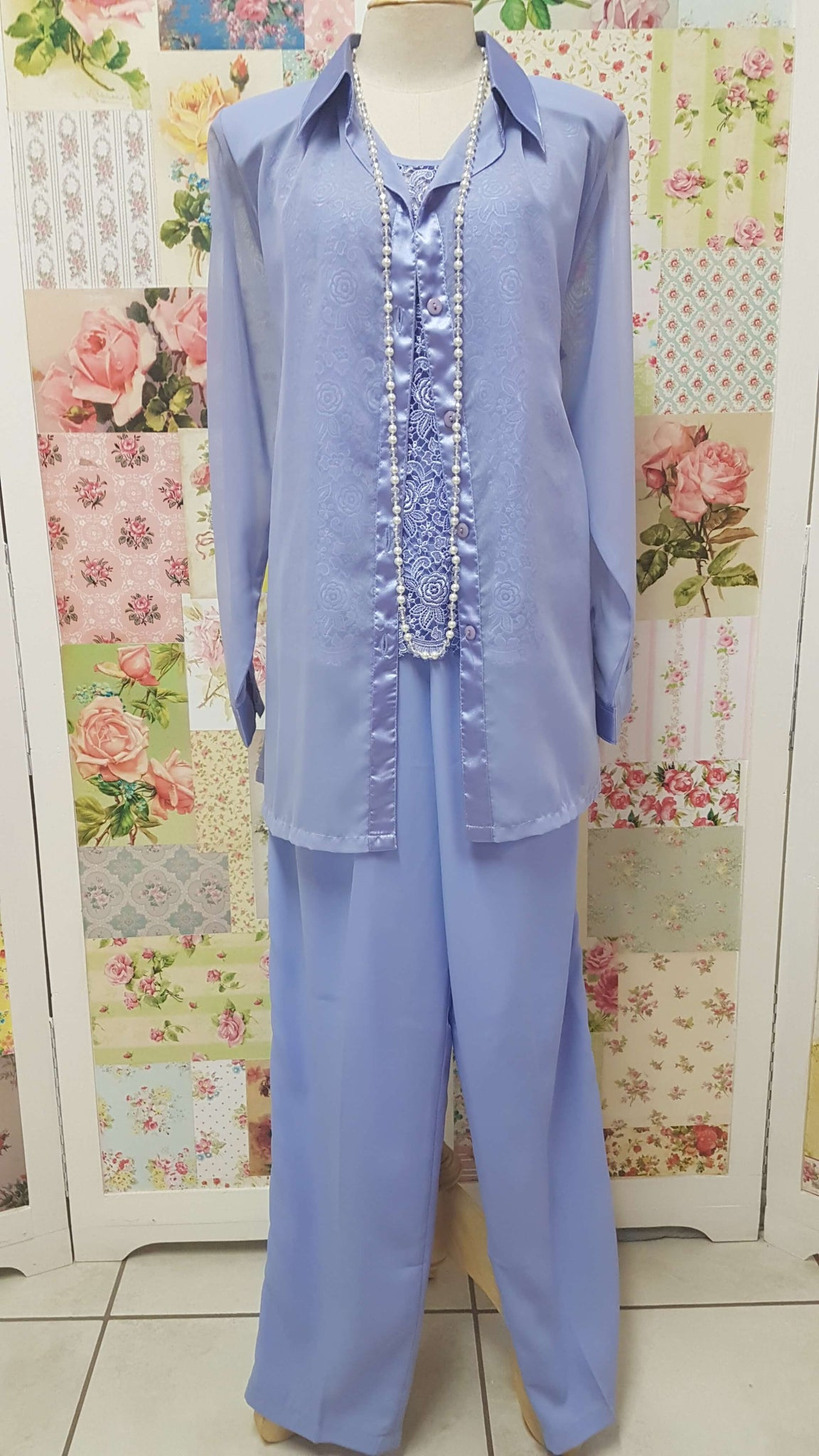 Periwinkle 3-Piece Pants Set BS018