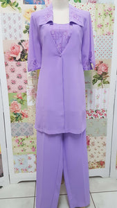 Purple 3-Piece Pants Set YO004