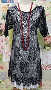 Black Lace Top CH0143