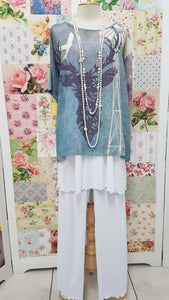White & Blue 3-Piece RS006