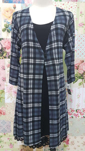 Grey Check Top CH0186