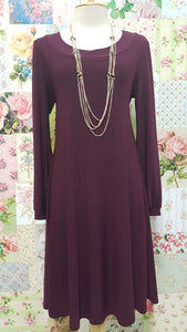 Burgundy Dress BK057