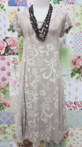 Light Mocha & Beige Dress PD003