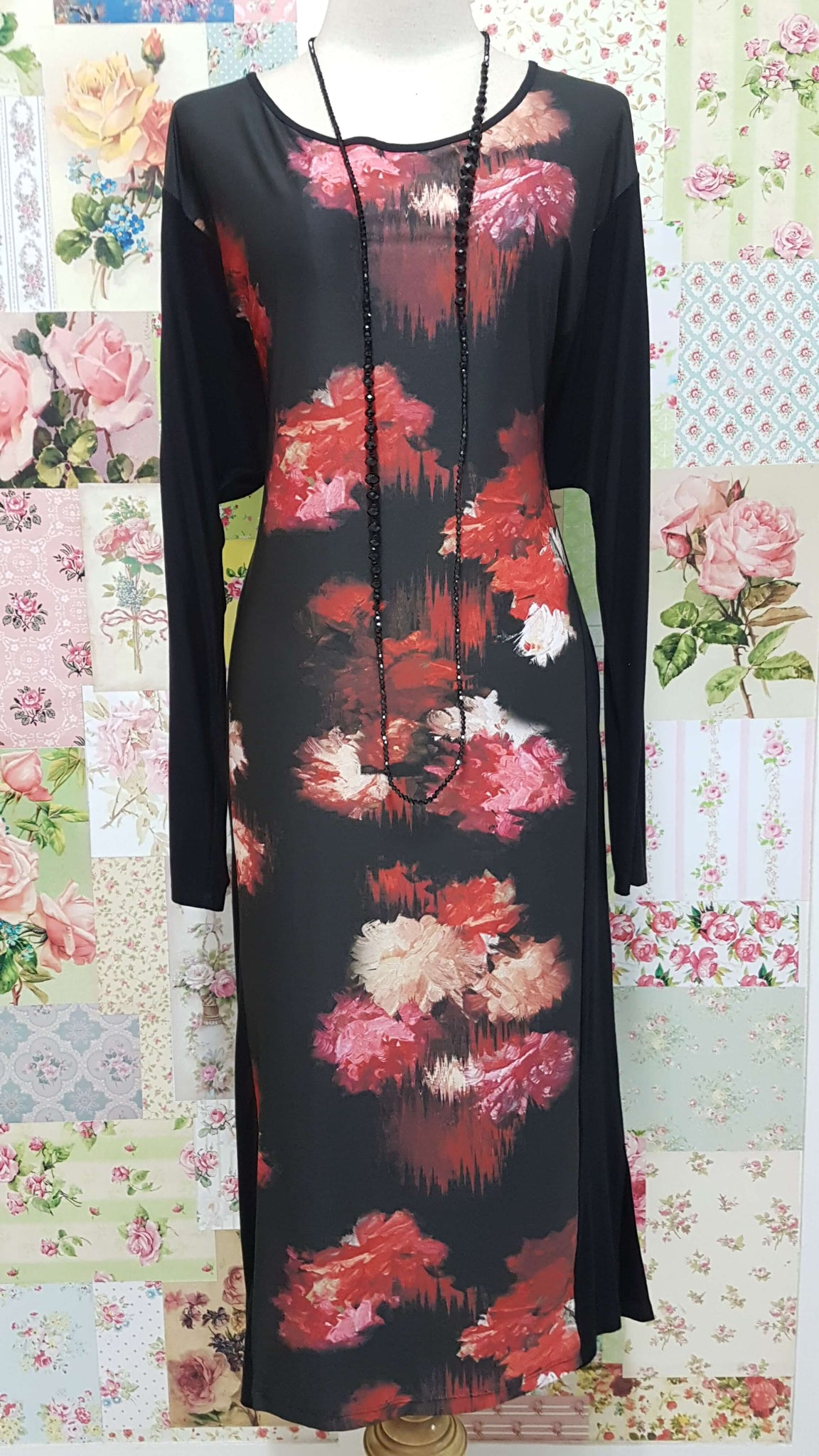 Black Printed Dress MY043