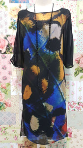 Black Printed Dress MY038