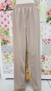 Beige Rib Pants SAM023