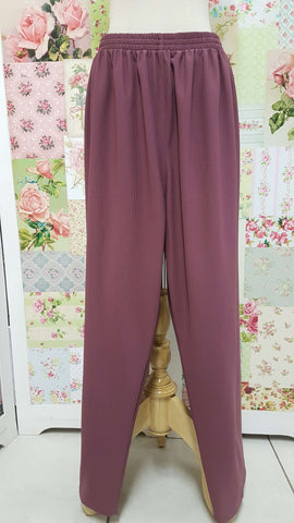 Dusty Pink Rib Pants SAM054