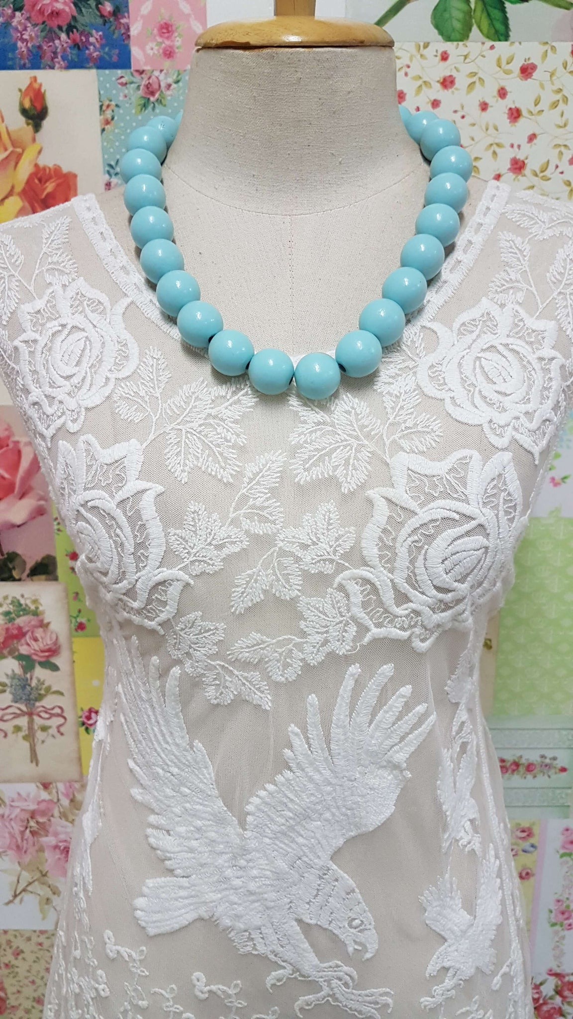 Soft Aqua Blue Necklace JU0126