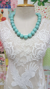 Mint Green Necklace JU0128