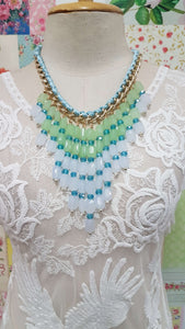 Aqua Green Necklace JU0111