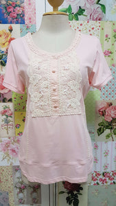 Pink & Cream Top BK0121