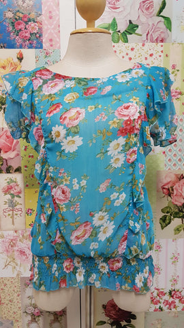 Aqua Blue Top BK0126