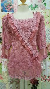 Dusty Pink Lace Top BK0151
