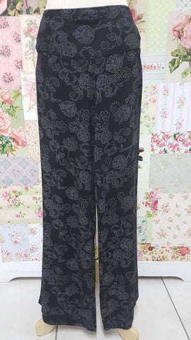 Black & Grey Printed Pants BE070