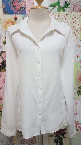 Cream White Blouse BU050