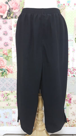 3/4 Black Pants BK0336