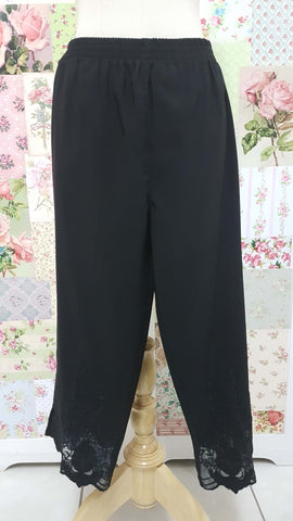 3/4 Black Pants BK0369