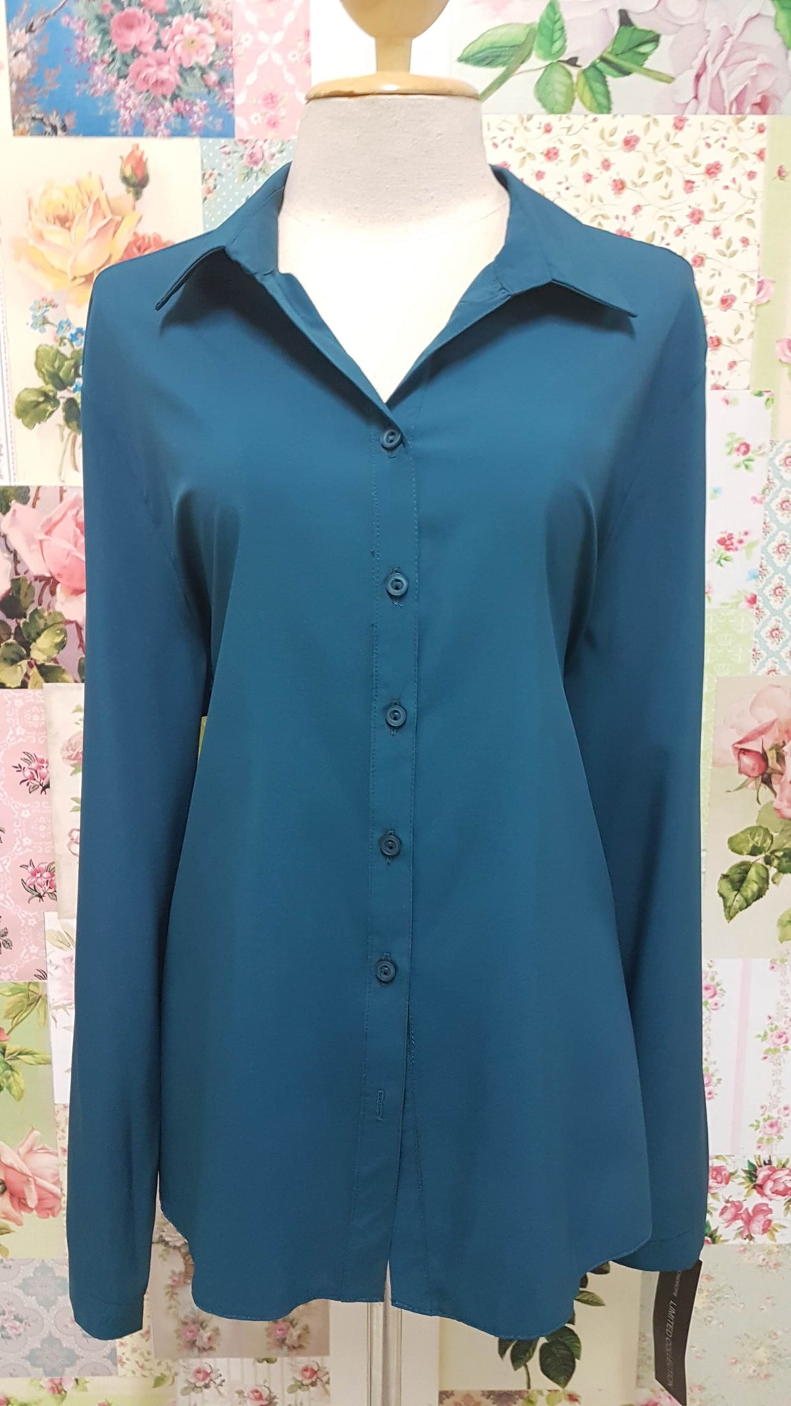 Petrol Blue Blouse BU044