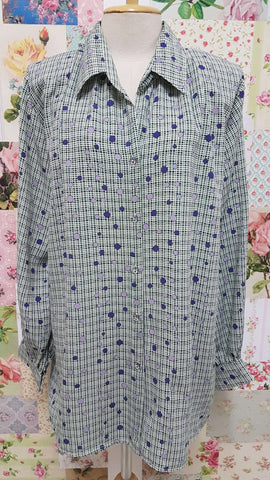 Green and Purple Blouse BT0172