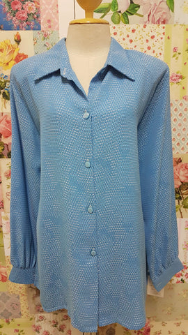 Blue & White Blouse BT0117