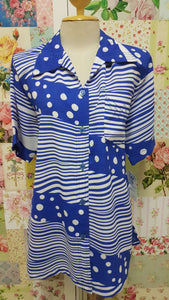 Blue & White Blouse BT0132