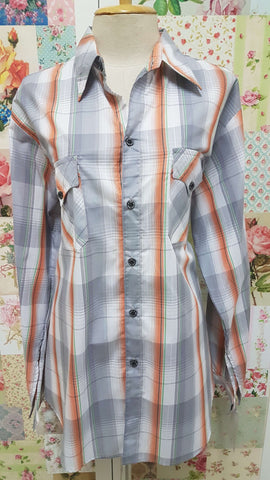 Grey Check Blouse CE069