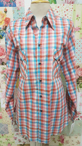 Multi-Coloured Check Blouse CE041