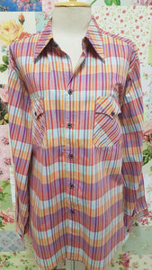 Red & Orange Striped Blouse CE030