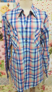 Blue & Pink Blouse CE029