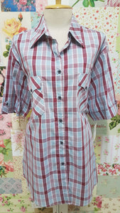 Maroon Check Blouse CE017