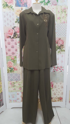 Olive Green 2-Piece YO011