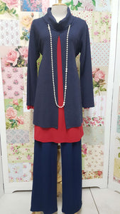 Navy & Red 3-Piece Pants Set CH0277