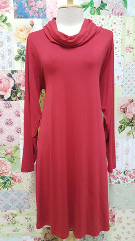 Red Cowl Neck Top MD059