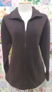 Chocolate Brown Fleece Jacket VC028