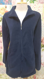 Navy Blue Fleece Jacket AC057