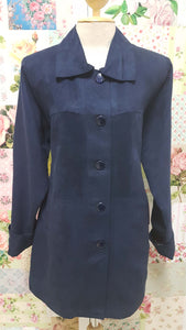 Navy Suede Jacket YD006