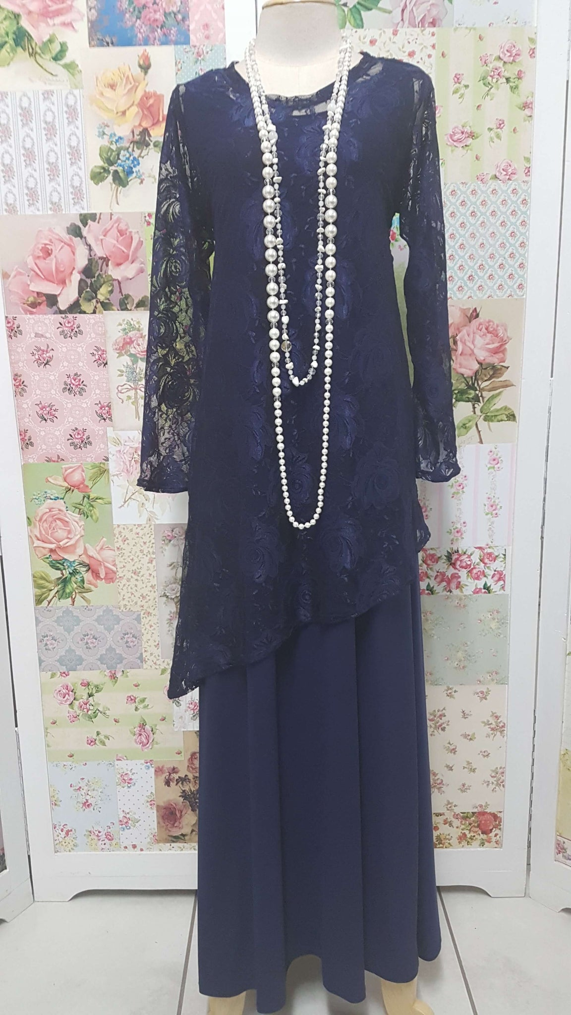 Navy 2-Piece Dress JS01