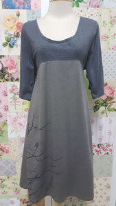Grey and Mocha Top RA022