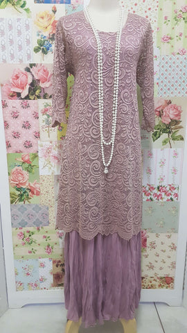 Dusty Pink 2-Piece Dress Set PG084